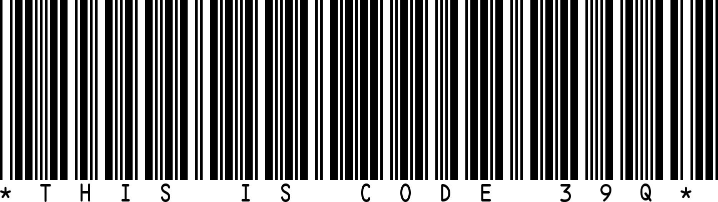 """Un codice a barre """"Codice 39"""""""